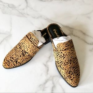 Qupid Cheetah Print Mule